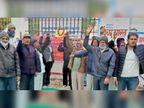 किसान बोले-जब तक उन्हें हक नहीं मिलेगा तब तक डटे रहेंगे, नहीं लौटेंगे|झुंझुनूं,Jhunjhunu - Dainik Bhaskar
