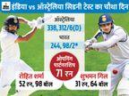 चौथे दिन भारत ने दूसरी पारी में 2 विकेट गंवाकर 98 रन बनाए, जीत के लिए अभी भी 309 रन की जरूरत क्रिकेट,Cricket - Dainik Bhaskar