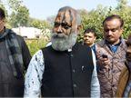 सोमनाथ भारती ने पुलिस अफसर से कहा- योगी की मौत सुनिश्चित है; स्याही फेंकने वाले के पीछे गाली देते हुए दौड़े|लखनऊ,Lucknow - Dainik Bhaskar