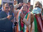 संक्रांति से पहले चारदीवारी पुरानी बस्ती में मंत्री, विधायक, मेयर ने उड़ाई पतंग; लड्डू, फीणी का लिया मजा|जयपुर,Jaipur - Dainik Bhaskar