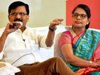वर्षा राउत ने आरोपी की पत्नी से लिए 55 लाख रुपए लौटाए, बीजेपी बोली- हिसाब तो देना पड़ेगा|मुंबई,Mumbai - Dainik Bhaskar