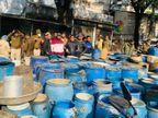 बैरसिया में 35 हजार किलो महुआ लहान, टपरों में 1800 लीटर कच्ची शराब समेत 28 लाख माल जब्त|भोपाल,Bhopal - Dainik Bhaskar