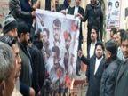 वाराणसी में वकीलों ने किया विरोध, DM पोर्टिको के सामने कालिख पोतकर पोस्टर को किया आग के हवाले|वाराणसी,Varanasi - Dainik Bhaskar