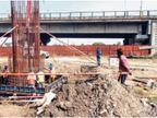 इंदौर में 27 महीने में 5.29 किमी ट्रैक तैयार हो जाना था, 26 माह गुजरे, पिलर डलना अब हुए शुरू|इंदौर,Indore - Dainik Bhaskar