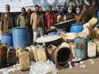 आबकारी टीम ने मारा छापा, 2300 किलो महुआ लहान और 130 लीटर हाथ भट्टी शराब नष्ट|भोपाल,Bhopal - Dainik Bhaskar