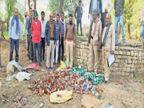 छैरा में सूखे कुएं से अवैध शराब का जखीरा पकड़ा, मरने वालों की संख्या 28 पर पहुंची; चर्चा- आरोपी मुकेश ने दिया क्लू|मुरैना,Morena - Dainik Bhaskar