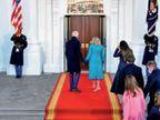 व्हाइट हाउस के गेटकीपर को नौकरी से निकाल गए ट्रम्प; बाइडेन पहुंचे तो दरवाजा बंद मिला, करना पड़ा इंतजार|विदेश,International - Dainik Bhaskar