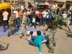 CM आवास का करना चाहते थे घेराव, बिरसा चौक पर ही घेर कर पुलिस ने लाठियां बरसाई|रांची,Ranchi - Dainik Bhaskar