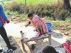 आबकारी टीम ने जहां नष्ट की थी 7 हजार लीटर कच्ची शराब, 4 दिन बाद वहीं फिर होने लगा अवैध कारोबार दबोह,Daboh - Dainik Bhaskar