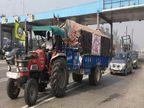 ट्रैक्टर परेड के लिए रोजाना पानीपत से गुजर रहा सैकड़ों ट्रैक्टरों का काफिला, टोल नाकों पर लंगर की व्यवस्था|पानीपत,Panipat - Dainik Bhaskar