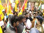 वाराणसी में कृषि कानून को लेकर सरदार सेना और किसानों का प्रदर्शन, पुलिस ने सौ से ज्यादा प्रदर्शनकारियों को गिरफ्तार किया|वाराणसी,Varanasi - Dainik Bhaskar
