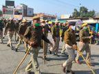 2 किमी मार्च निकालकर सभी वार्डों में पहुंची पुलिस, कहा- जिसे चाहो उसे वोट दो, लेकिन वोट जरूर दो|सीकर,Sikar - Dainik Bhaskar