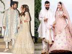 वरुण की दुल्हनिया नताशा दलाल से लेकर अनुष्का शर्मा तक, इन बॉलीवुड ब्राइड्स ने शादी में नहीं पहना लाल जोड़ा बॉलीवुड,Bollywood - Dainik Bhaskar