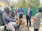अब घर बैठे मिलेगी वाहनों की हाई सिक्योरिटी नंबर प्लेट, न लगाने पर किया जाएगा चालान|करनाल,Karnal - Dainik Bhaskar