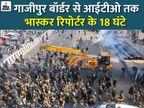मौके से गायब दिखे किसान आंदोलन के बड़े चेहरे, भीड़ इस कदर बेकाबू हो गई थी कि पुलिस की क्रेन और बस को छीन अपने साथ ले गई|ओरिजिनल,DB Original - Dainik Bhaskar