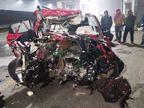 आगरा- लखनऊ एक्सप्रेस वे पर तेज रफ्तार कार ने ट्रक को पीछे से मारी टक्कर, 3 की मौत|कानपुर,Kanpur - Dainik Bhaskar