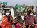 भागलपुर के उल्टा पुल पर उल्टा झंडा लिए दिखी महिलाएं, आने का कारण भी पता नहीं|भागलपुर,Bhagalpur - Dainik Bhaskar