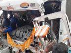 वाराणसी में अनियंत्रित ट्रक खड़ी ट्रक में टकराई; ड्राइवर और खलासी को रेस्क्यू कर बाहर निकाला गया, गंभीर हालत में BHU ट्रामा में भर्ती|वाराणसी,Varanasi - Dainik Bhaskar