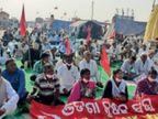 हरियाणा व राजस्थान के 42 गांवों की हुई महापंचायत, राजस्थान सरकार पर लगाया आंदोलन को सहयोग देने का आरोप|शाहजहांपुर,Shahjanpur - Dainik Bhaskar