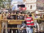 काफिलेकी दो कार आपस में टकराईं, विरोेध के चलते दो दर्जन कांग्रेसी कार्यकर्ता हिरासत में लिए, कुछ घर में नजरबंद सागर,Sagar - Dainik Bhaskar