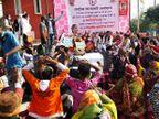 प्रदेश में संपूर्ण शराबबंदी की मांग को लेकर धरने पर बैठे लोग, एक दिवसीय सांकेतिक उपवास पर बैठी छाबड़ा|जयपुर,Jaipur - Dainik Bhaskar