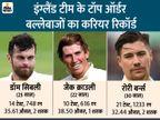 पिछले 5 साल में एशिया में इंग्लैंड के टॉप-3 बैट्समैन का औसत 32 का, भारत के टॉप-3 का औसत 57 से ऊपर|क्रिकेट,Cricket - Dainik Bhaskar