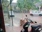 अलवर में शाम को अचानक हुई बारिश, कुछ जगहों पर ओले भी गिरे; फसलों को नुकसान नहीं|अलवर,Alwar - Dainik Bhaskar