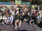 शनिवार कोपानीपत के दोनों टोलप्लाजा पर बंद करेंगे हाईवे, मजदूर भी किसानों के साथ आए|पानीपत,Panipat - Dainik Bhaskar