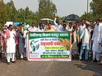 रायपुर में रसनी टोल नाके और बोरियाखुर्द में सड़क रोकने की तैयारी, आज दोपहर 12 बजे से जुटेंगे किसान|छत्तीसगढ़,Chhattisgarh - Dainik Bhaskar