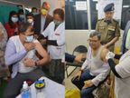 लखनऊ के कमिश्नर और DM ने लगवाया कोरोना का टीका; बोले- किसी भी भ्रम में न पड़ें, बढ़-चढ़कर हिस्सा लें लखनऊ,Lucknow - Dainik Bhaskar