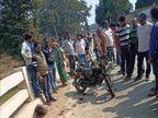 ट्रक-बाइक भिंड़त में पिता और 5 साल की बेटी की मौके पर मौत, मां और बड़ी बेटी गंभीर जख्मी; हवन में शामिल होने जा रहा था परिवार|जबलपुर,Jabalpur - Dainik Bhaskar