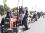 ग्रामीण क्षेत्रों से आए किसानों की निकाली ट्रैक्टर रैली; सुनाई दी जय किसान-जय जवान की गूंज|अजमेर,Ajmer - Dainik Bhaskar