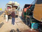 हादसे में 1 की मौत, 12 घायल; फैक्ट्री से नाइट शिफ्ट के बाद घर लौट रहे थे सभी मजदूर|जयपुर,Jaipur - Dainik Bhaskar