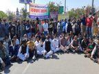 किसान आन्दोलन को कांग्रेस का समर्थन; अजमेर में पौन घंटे सांकेतिक चक्का जाम, पुलिस ने किया यातायात डायवर्ट अजमेर,Ajmer - Dainik Bhaskar