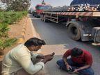 जिन ट्रक ड्राईवरों को किसानों ने रोका वो भी बोले- गलत कर रही सरकार, अन्नदाता की मांग जायज|रायपुर,Raipur - Dainik Bhaskar