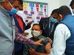 उदयपुर आईजी सत्यवीर सिंह ने लगवाई कोरोना वैक्सीन, पुलिस विभाग में शुरू हुआ वैक्सीनेशन|उदयपुर,Udaipur - Dainik Bhaskar