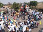 3 घंटे बंद रहा NH 53, कृषि कानून के विरोध में 1500 किसानों ने किया प्रदर्शन, सड़क पर लगी रहीं ट्रकों की कतारें|रायपुर,Raipur - Dainik Bhaskar