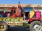 जयपुर में किसानों ने ट्रैक्टर अड़ाकर रोका ट्रैफिक, अलवर में हाईवे पर बिछाए पत्थर और कंटीली झाड़ियां, कोटा में ट्रैक्टर रैली जयपुर,Jaipur - Dainik Bhaskar