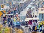 किसानों के समर्थन में रालोपा ने निकाली रैली, आज तीन घंटे चक्का जाम|झुंझुनूं,Jhunjhunu - Dainik Bhaskar