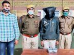 व्यापारी को पिस्टल दिखा कार लूटने के प्रयास का आरोपी दो मैगजीन व एक कारतूस सहित गिरफ्तार|जोधपुर,Jodhpur - Dainik Bhaskar