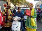 भोपाल की सड़कों पर नियम तोड़ने वालों को 'Red warning card ' जारी कर रहे हैं यमराज|भोपाल,Bhopal - Dainik Bhaskar