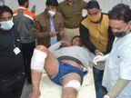 राम मंदिर के लिए धन संग्रह कर रहे जिला संघ चालक पर फायरिंग, दो गोली लगने के बाद MBS में भर्ती|कोटा,Kota - Dainik Bhaskar
