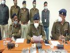 खरगोन में बनी पिस्टल से मेरठ में लेना था भाई की हत्या का बदला, चार बदमाश गिरफ्तार|ग्वालियर,Gwalior - Dainik Bhaskar