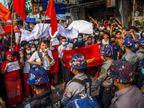 प्रदर्शनकारियों पर रबर बुलेट और टियर गैस का इस्तेमाल, कर्मचारियों ने ऑफिस जाना छोड़ा विदेश,International - Dainik Bhaskar