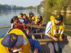 भोपाल के छोटे तालाब पर बोट पुलिंग में रेस लगाती एनसीसी नेवल विंग की गर्ल्स कैडेट्स ने कहा-हम किसी से कम नहीं...|भोपाल,Bhopal - Dainik Bhaskar