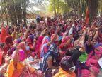 उज्जैन में आंगनबाड़ी कार्यकर्ताओं ने मानदेय बढ़ाने को लेकर भरी हुंकार, बोलीं- राजा भी पछताया था मामा भी पछताएगा|उज्जैन,Ujjain - Dainik Bhaskar