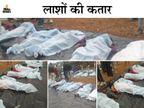 कफनों में लिपटी लाशों पर फूट-फूटकर रोते रहे परिवार वाले; मंजर जिसने भीदेखा, वह सिहर उठा..|मध्य प्रदेश,Madhya Pradesh - Dainik Bhaskar