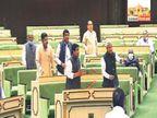 रैली को लेकर कांग्रेस और भाजपा आमने-सामने, भाजपा ने राहुल के लिए 'पप्पू' तो कांग्रेस ने मोदी के लिए 'जोकर' के नारे लगाए|जयपुर,Jaipur - Dainik Bhaskar
