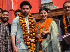शादी की 10वीं सालगिरह पर अयोध्या पहुंचे गुरमीत-देबिना, मंदिर के लिए दान देकर लिया भगवान राम का आशीर्वाद टीवी,TV - Dainik Bhaskar