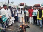 पेट्रोल की कीमत पर PM का पुतला दहन करने निकले, 100 मीटर बढ़े तो आवाज आई- मोदी छूट गए|बिहार,Bihar - Dainik Bhaskar